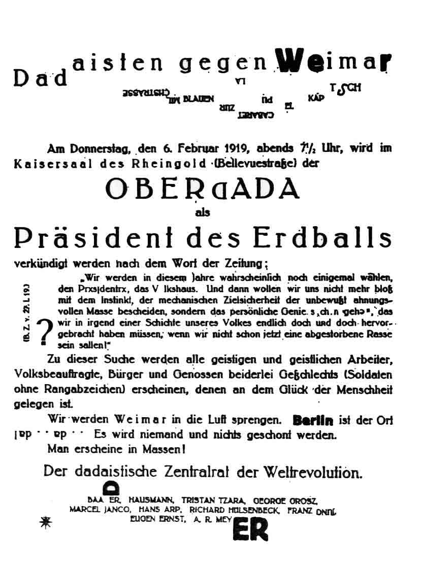 Dadisten Gegen Weimar